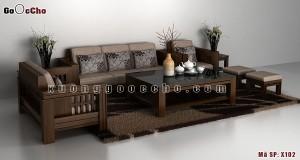 Bàn ghế gỗ óc chó x102