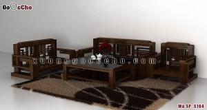 Bàn ghế gỗ óc chó X104a