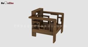 Bàn ghế gỗ óc chó X106 C