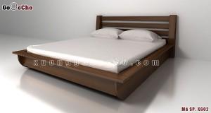 Giường ngủ gỗ óc chó X602