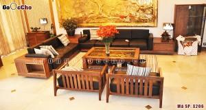 Sofa gỗ óc chó X206