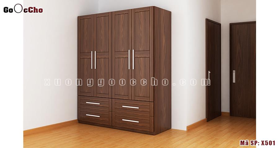 Tủ áo gỗ óc chó X501a