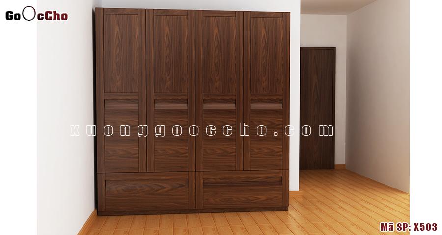 Tủ áo gỗ óc chó X503
