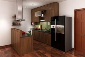 Tủ bếp gỗ Óc Chó X803
