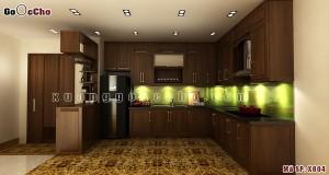 Tủ bếp gỗ óc chó X804