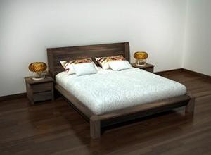 Giường ngủ gỗ óc chó X613