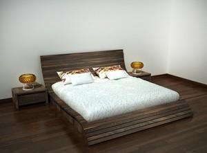 Giường ngủ gỗ óc chó X614