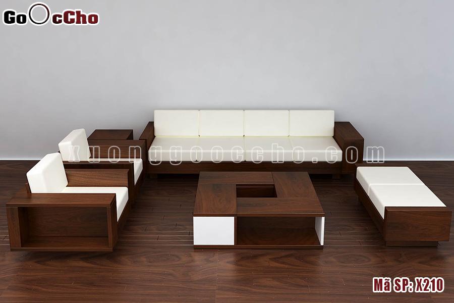 Sofa gỗ óc chó X210