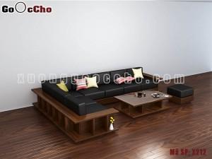 Sofa gỗ óc chó X212