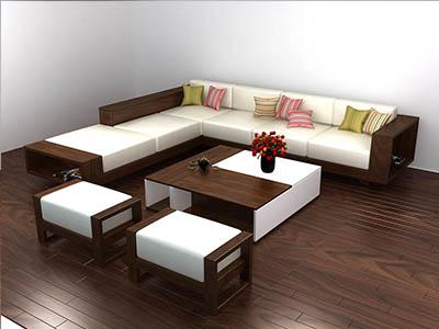 Sofa gỗ óc chó X209