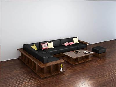 Sofa gỗ óc chó X211