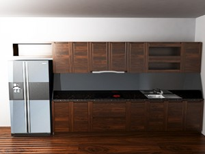 Tủ bếp gỗ óc chó X806