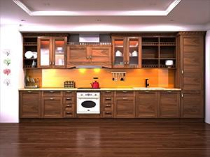 Tủ bếp gỗ óc chó X808
