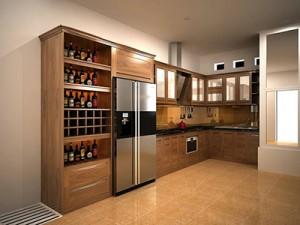 Tủ bếp gỗ óc chó X812