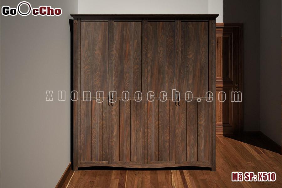 Tủ quần áo gỗ óc chó X510