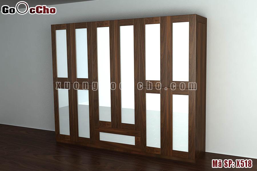 Tủ quần áo gỗ óc chó X518