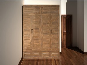 Tủ quần áo gỗ óc chó X512