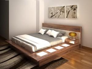 Giường ngủ gỗ óc chó X620