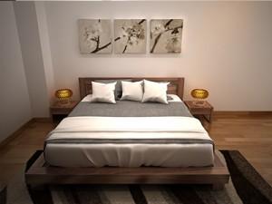 Giường ngủ gỗ óc chó X622