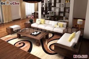 Sofa gỗ óc chó X215
