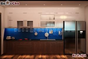 Tủ bếp gỗ óc chó X814