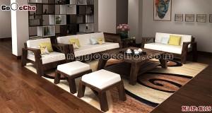 Bàn ghế gỗ óc chó X116