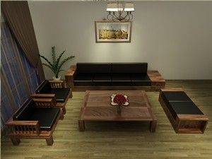 Bàn ghế gỗ óc chó X119