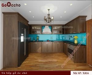 Tủ bếp gỗ óc chó X816