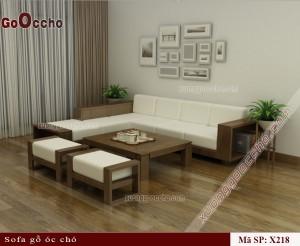 Sofa gỗ óc chó X218