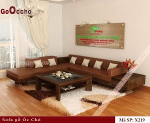 Sofa gỗ óc chó X219