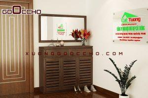 tủ giầy gỗ óc chó XTG002