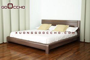 Giường ngủ gỗ óc chó X630