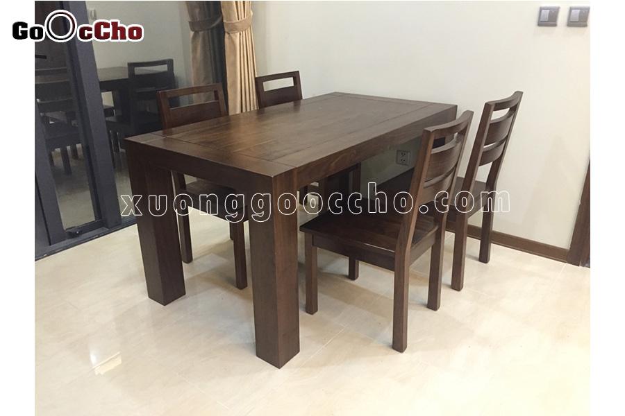 bàn ghế ăn đẹp gỗ óc chó