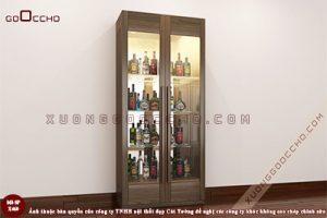 Tủ rượu gỗ óc chó X460dd