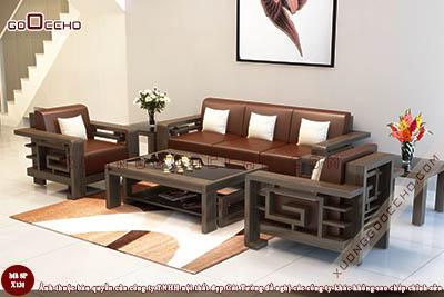 Bàn ghế gỗ óc chó X131 dd