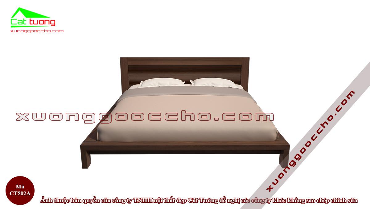 Giường ngủ gỗ óc chó CT502A2
