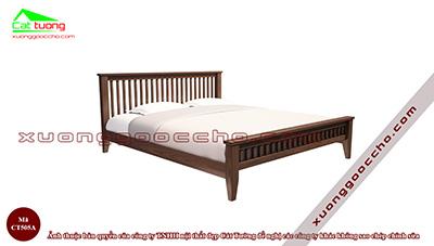 Giường ngủ gỗ óc chó CT505A