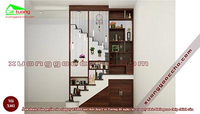 Vách trang trí cầu thang X461