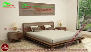 Giường ngủ gỗ óc chó CT509A