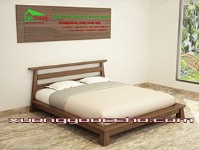 Giường ngủ gỗ Óc Chó CT604 dd