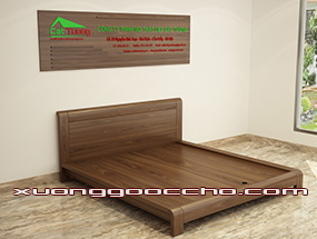 Giường ngủ gỗ Óc Chó CT606 dd