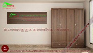 Tủ quần áo gỗ Óc Chó CT505 dd