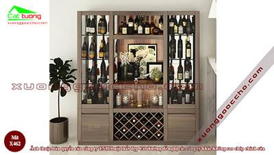 Tủ rượu gỗ Óc Chó X462 dd
