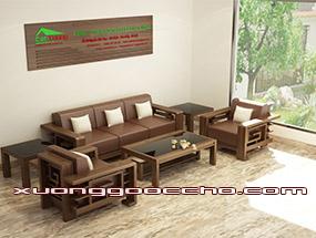 Bàn ghế gỗ óc chó CT117