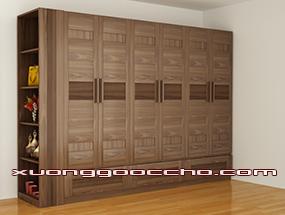 Mẫu tủ áo gỗ óc chó CT508