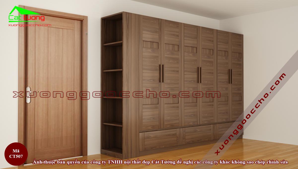 Tủ áo gỗ óc chó CT507 B2