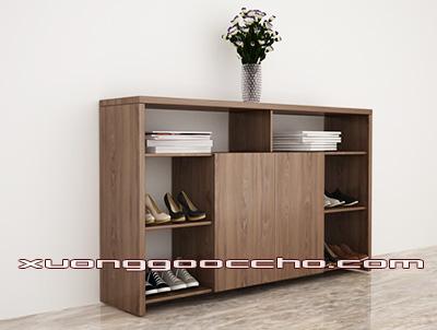 Tủ giày gỗ óc chó CT417 B