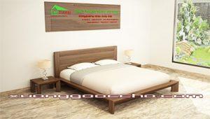 Mẫu giường ngủ gỗ óc chó CT608