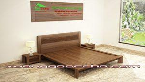Giường gỗ óc chó CT609 A