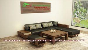 Sofa gỗ óc chó CT151